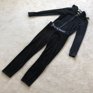 Juicy Couture Other - Juicy Couture Black Label Velour skinny tracksuit